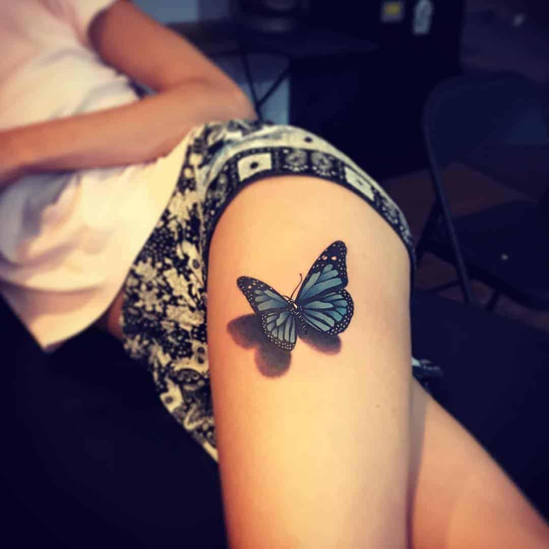 3D pillangó comb tetoválás
