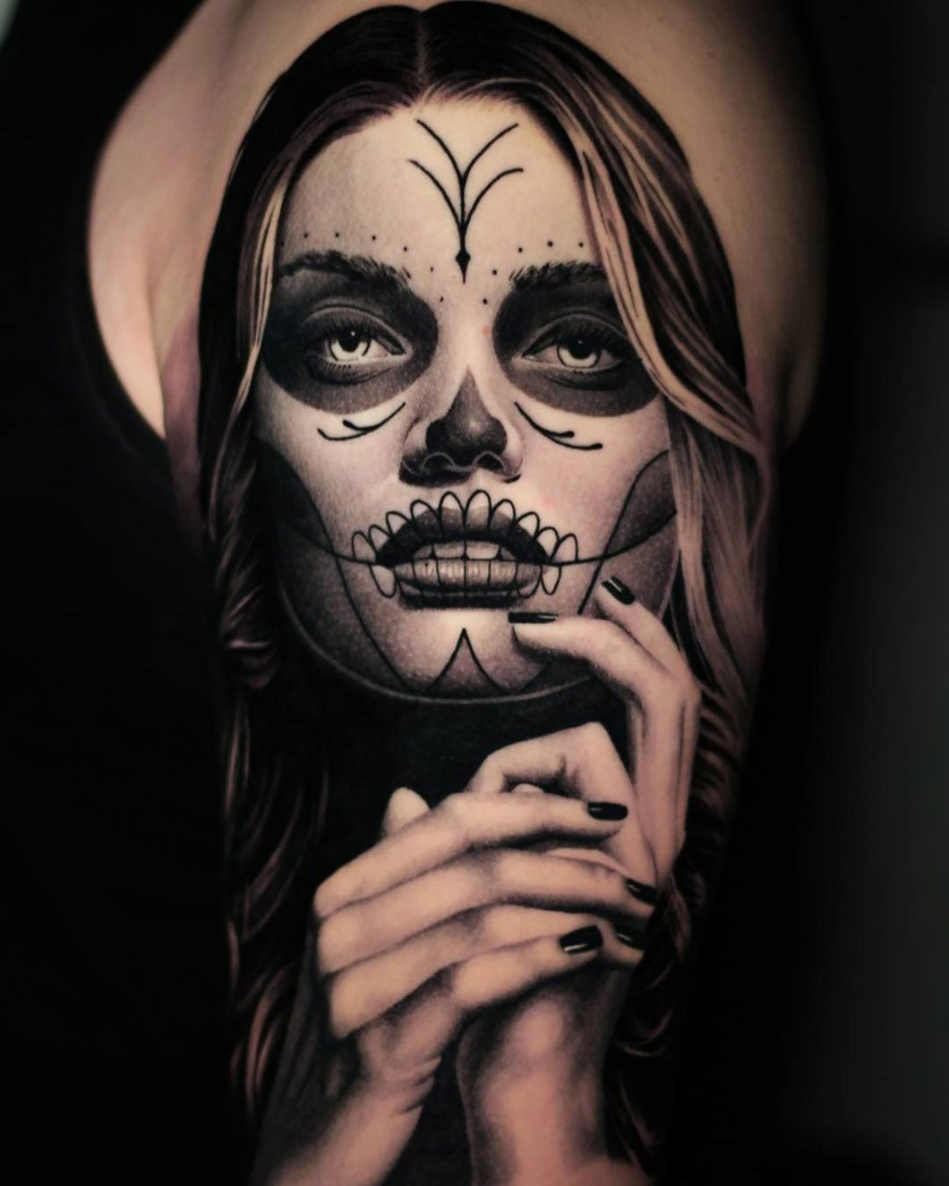 halottak napja lány tetoválás
