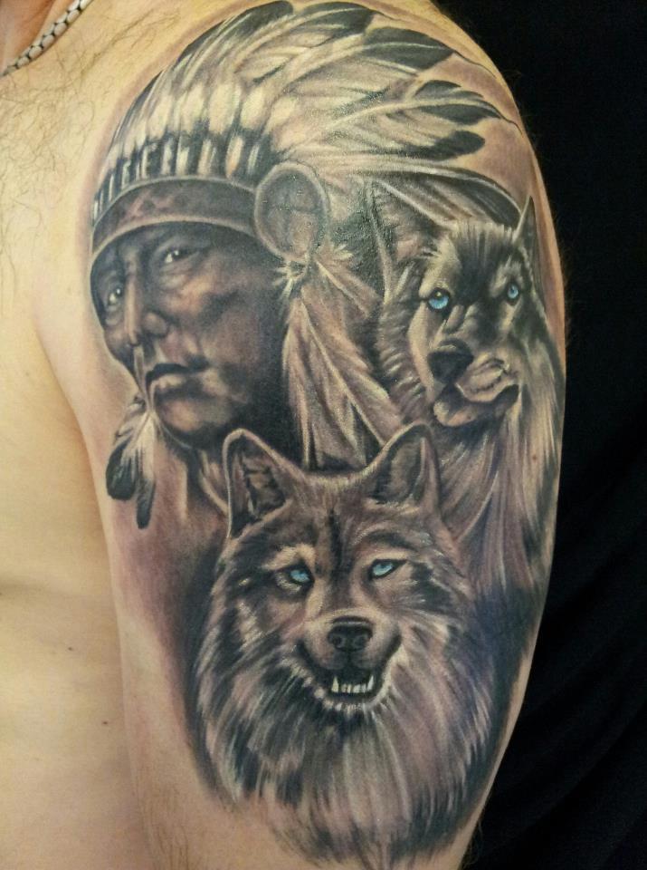 farkas és indián tetoválás